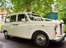 White Taxi wedding car hire in Alton